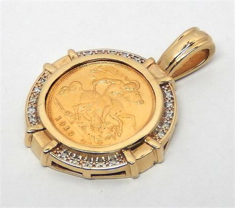 Cash converters valued 2650 9ct yellow gold diamond sovereign listing image aloadofball Image collections